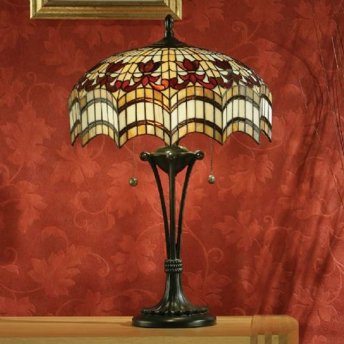 Vesta Large Table Lamp (Traditional, Large Table lamp) TG67light (Tiffany style)